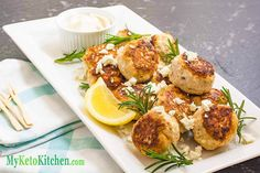 Low Carb Chicken Feta Meatballs to be exact. A versatile recipe that can be added to various sides or even served as an appetiser. Lunch Recipes, Low Carb Recipes, Cooking Recipes, Healthy Recipes, Healthy Meals, Free Recipes, Meatball Recipes, Chicken Recipes, Recipe Chicken
