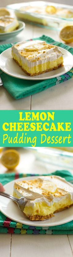 This luscious lemon cheesecake pudding dessert is a no-bake dream! Made with a…