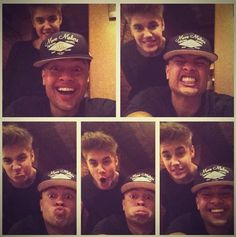 "Carly Rae Jepsen's new album ""Kiss"" inspired Justin Bieber and Alfredo Flores to make these faces."