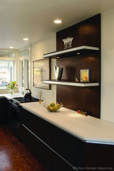 Contemporary Kitchen Cabinets - Pictures and Design Ideas Open Kitchen Cabinets, Kitchen Cabinets Pictures, Contemporary Kitchen Cabinets, Kitchen Tops, Contemporary Kitchens, Kitchen Shelves, Modern Contemporary, Kitchen Shelf Design, Kitchen Design Open