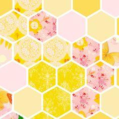 Katie Daisy - Yellow, pink, white