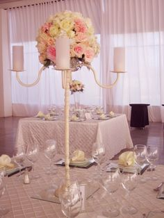 Centros de mesa altos - bodas.com.mx                                                                                                                                                                                 Más
