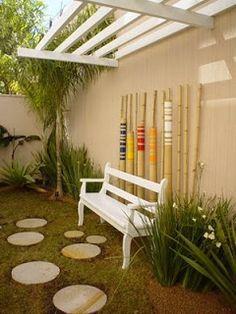 Mirian Decor: Um espaço pequeno......... Um pequeno jardim