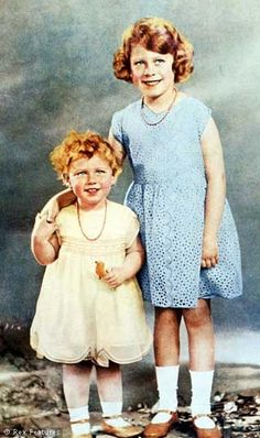 Princess Margaret and Princess Elizabeth 1931