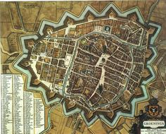 Map of Groningen, Netherlands, in the 17th century [2368 x 1909]