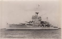 Postcard of the battleship HMS Warspite From the WW II collection of C.E.R.A Albert Sayer, R.C.N.V.R. Courtesy of Karen Pelton