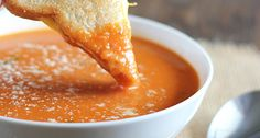 Creamy Tomato Basil Soup prepared with simple everyday ingredients.