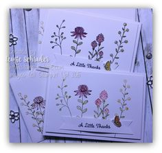 Wildflower Notes using Flowering Fields, SAB Occasions, Stampin Up Stamping Up Cards, Cool Cards, Quick Cards, Cards For Friends, Watercolor Cards, Flower Cards, Making Ideas, Thank You Cards, Cardmaking