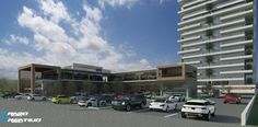 Plaza Comercial y Torre Residencial ----- Comercial Plaza & Resindential Tower Mall, Towers, Interiors, Blue Prints
