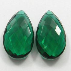 Green Tourmaline Hydro 18x35mm Pear Briolette  Pendant Jewelry Making Gemstone