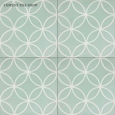 Cement Tile Shop - Encaustic Cement Tile: In Stock Cement Tile Mint Bathroom, Small Bathroom With Shower, Art Deco Bathroom, Bathroom Floor Tiles, Kitchen Tiles, Wall Tiles, Backsplash Tile, Mosaic Tile Designs, Mosaic Tiles