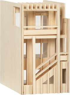 Cool doll house, for boys and girls alike. ben holiday house  | CB2