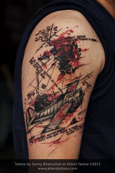 Abstract Plane Tattoo,Design & Inked by Sunny at Aliens Tattoo, Mumbai