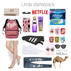 """""""Untitled #11"""" by luc-ka on Polyvore featuring Victoria's Secret, ASOS, NIKE, adidas Originals, Hollister Co., Topshop, Thierry Lasry and MICHAEL Michael Kors"""