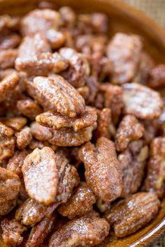Slow Cooker Candied Cinnamon Pecans
