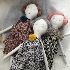 Cloth Dolls by Loop Dolls, Japan~Image via Mec Loup, Doll Japan, Cute Dolls, Pretty Dolls, Fabric Dolls, Rag Dolls, Paperclay, Sewing Dolls, Doll Maker, Soft Dolls