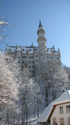 Heading down the hill from Neuschwanstein Castle, Germany