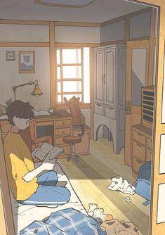 Animes Wallpapers, Cute Wallpapers, Aesthetic Art, Aesthetic Anime, Arte 8 Bits, Scenery Wallpaper, Boy Art, Anime Scenery, Cartoon Art