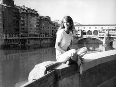 #style inspiration #Charlotte Rampling in Florence... white top, white pants
