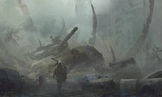 regram @juanparoldan56 Today's painting #sketch  #war #soldier #sniper #tank #mood #conceptart