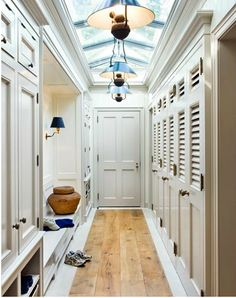 Great idea for hallway storage, via South Shore Decorating Blog: More Delusions of Grandeur...