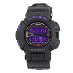 Casio G9000BP-1 G-Shock Mudman Black and Purple Multi-Function Digital Men's Watch