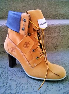 Timberland High Heel Leather Boots.