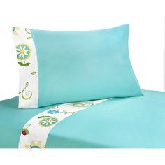 Sweet JoJo Designs 200 Thread Count Layla Bedding Collection Sheet Set