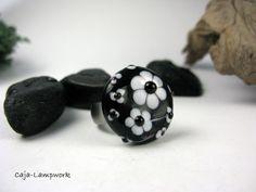 "Caja-Lampwork--Wechsel Glas Top ""schwarz-weiß von Caja-lampwork - Glasschmuck auf DaWanda.com"