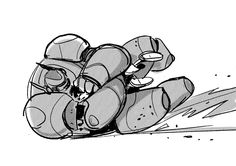 some Baymax action sketch