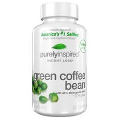 Purely Inspired Green Coffee Bean Dietary Supplement Tablets, 60 count