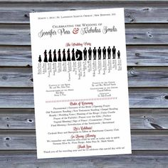 Printable Wedding Party Silhouette Style Wedding by DesignsByDVB