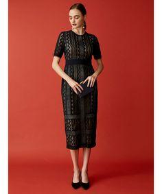 c1c586f75c271 LAGUNAMOON(ラグナムーン)の「LADY ジオメトリックレースドレス(ドレス)」