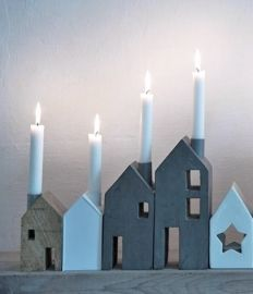 Candleholder houses from Zink & Zo, Netherlands