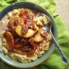 Connoisseurus Veg: Roasted Peaches and Creamy Breakfast Polenta