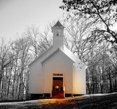 Baptist Church in Cade's Cove, Tennessee