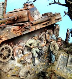 Dioramas and Vignettes: Cat Killers, photo Rc Tank, Tank Armor, Military Action Figures, Model Tanks, Military Modelling, Military Diorama, Panzer, Model Ships, Plastic Models