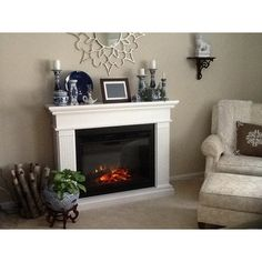 Real Flame Kennedy Grand Electric Fireplace & Reviews | Wayfair