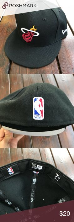 NBA Miami Heat Basketball Fitted Hat Miami Heat basketball cap. Brand new, never worn. Accessories Hats