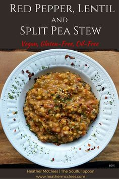 This stew is hearty and full of plant-based protein plus iron and magnesium! It's also gluten, soy-free, and made completely from whole foods!