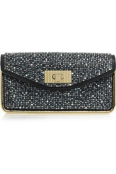 CHLOÉ  Sally Swarovski crystal-embellished leather clutch  £2,661.32