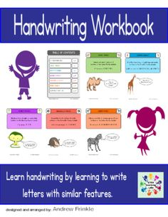 Basic Skills Workbook - Preschool Kindergarten Primary - Handwriting from Velerion-Damarke from Velerion-Damarke on TeachersNotebook.com (28 pages)  - This workbook contains 26 pages to help young students learn to write their letters. It is designed with a fun animal theme to help students find letters with similar shapes and structures.