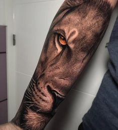 Lion Leg Tattoo, Female Lion Tattoo, Lion Shoulder Tattoo, Lion Forearm Tattoos, Lion Tattoo Sleeves, Lion Head Tattoos, Forarm Tattoos, Mens Lion Tattoo, Tribal Tattoos