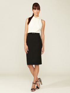 Silk and Wool Combo Dress by Carolina Herrera on Gilt.com