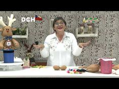 Reno en Sombrero - Yasna Pino - Casa Puchinni - YouTube Patches, Home, Reindeer Hat, Sewing Lessons, Pine, Recycling, Sombreros, Creative Crafts, Creativity