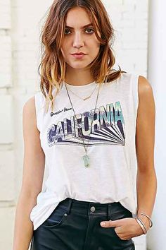 Project Social Tee California Tank Top - Urban Outfitters