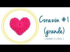 Corazón de Crochet #1 (grande) | PATRONES VALHALLA // Patrones gratis de ganchillo