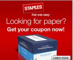 Staples Coupon: $25 off HammerMill Case of Paper - http://www.livingrichwithcoupons.com/2013/02/staples-coupon-25-off-hammermill-case-of-paper.html