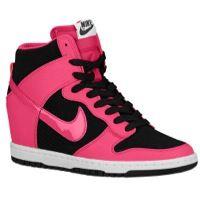 Nike Dunk Sky Hi - Women's - Black/Volt/Gum Med Brown/Met Silver
