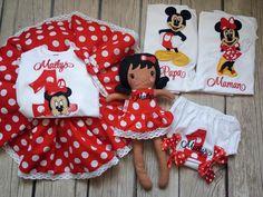 puppe, doll sewing pattern, embroidey doll, set aniversar rosu minnie, rochita aniversara brodata, body brodat, tricouri brodate mami tati
